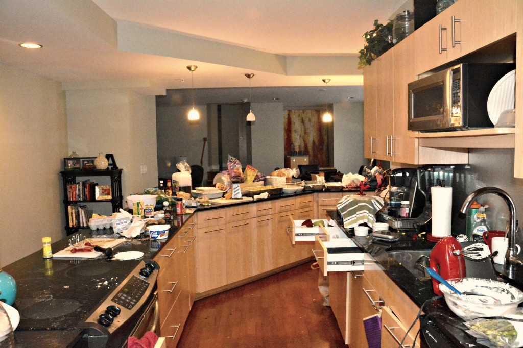 My Kitchen as I prepare dinner for 12 Offensive Lineman