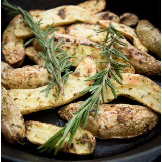 Garlic and Herb Fingerling Potatoes