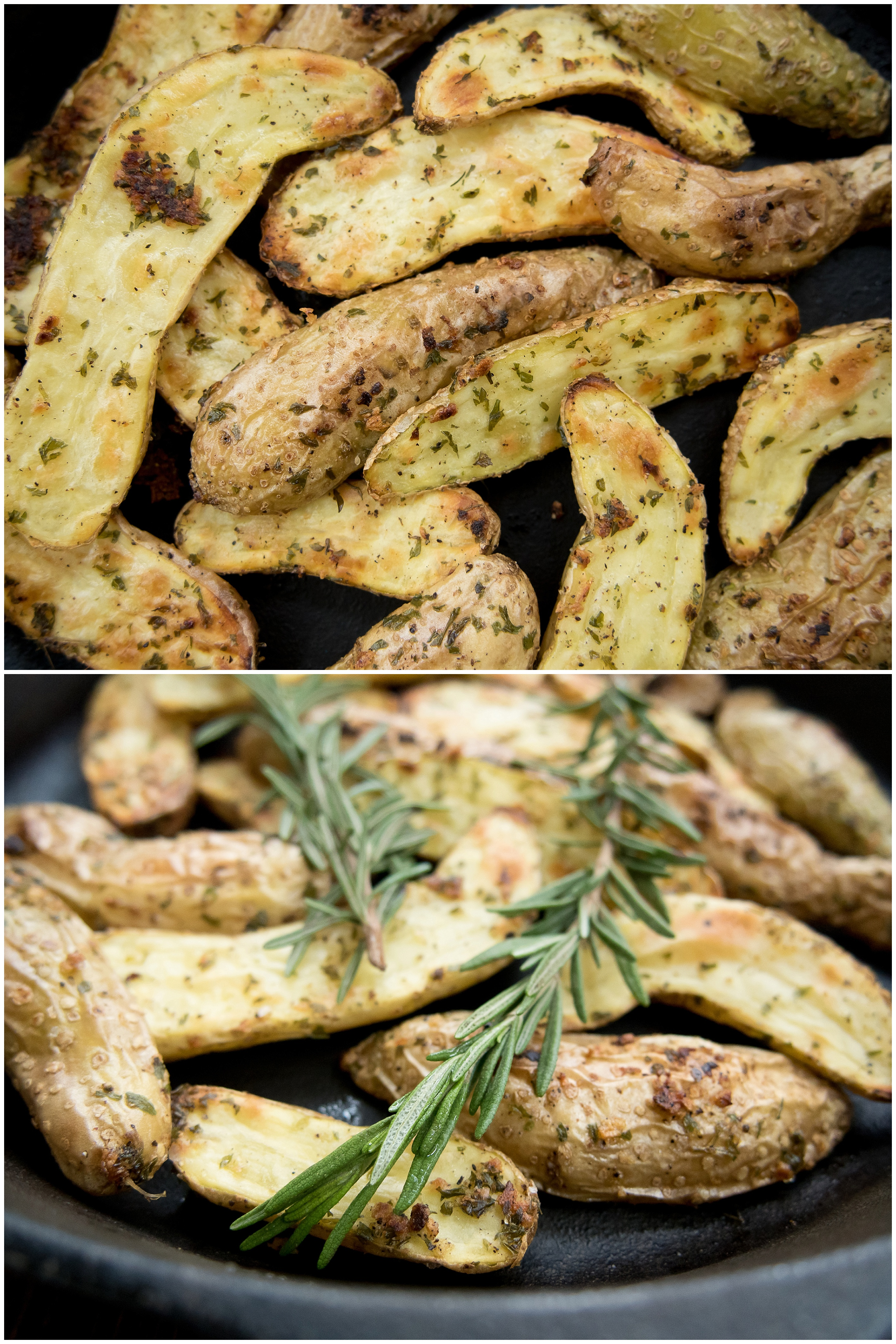 Garlic and Herb Fingerling Potatoes are my favorite! They are the perfect size, cook quickly, and develop the best little crunch. These use fresh herbs to elevate the perfect side dish. www.thenewmrsallen.com