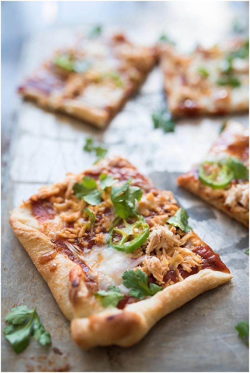 The BEST semi-homemade BBQ Chicken Pizza You have EVER had-- TheNewMrsAllen.com