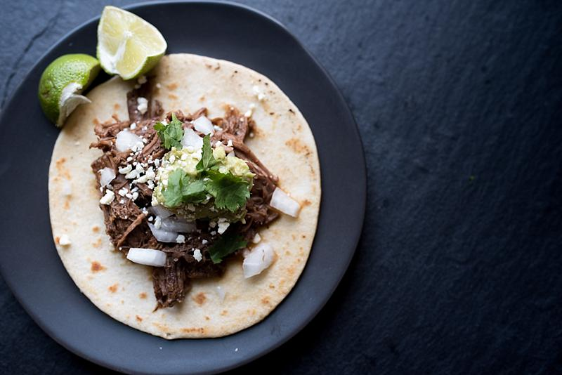 beef barbacoa taco -- firstandfull.com