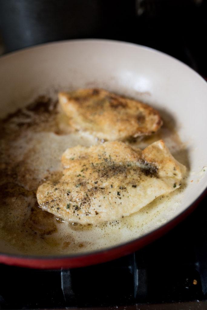 Crispy Chicken with Lemon Cream Sauce-- firstandfull.com