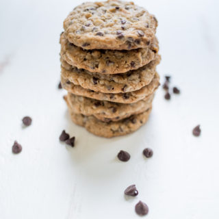 Oatmeal Double Chocolate Chip Cookies with Walnuts