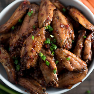Baked Honey Asian Hot Wings