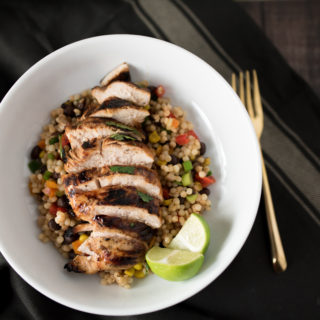 Cilantro Lime Chicken and Mexican Couscous Salad