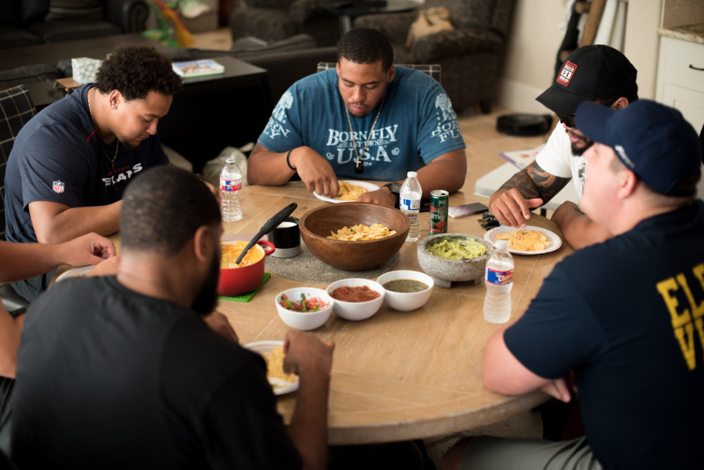 How to Host a Dinner Party... for an Offensive Line | FirstandFull.com