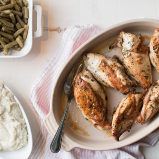 Roasted Chicken Breast and Creamy Cauliflower Mash