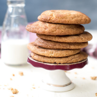 Thick and Chewy Snickerdoodle Cookies