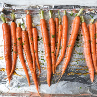 Honey Herb Roasted Carrots