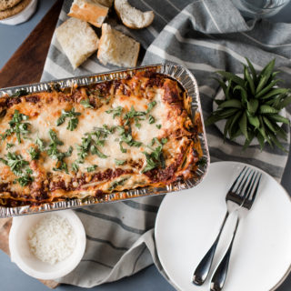 Vegetarian Spinach Lasagna (Freezer Friendly)