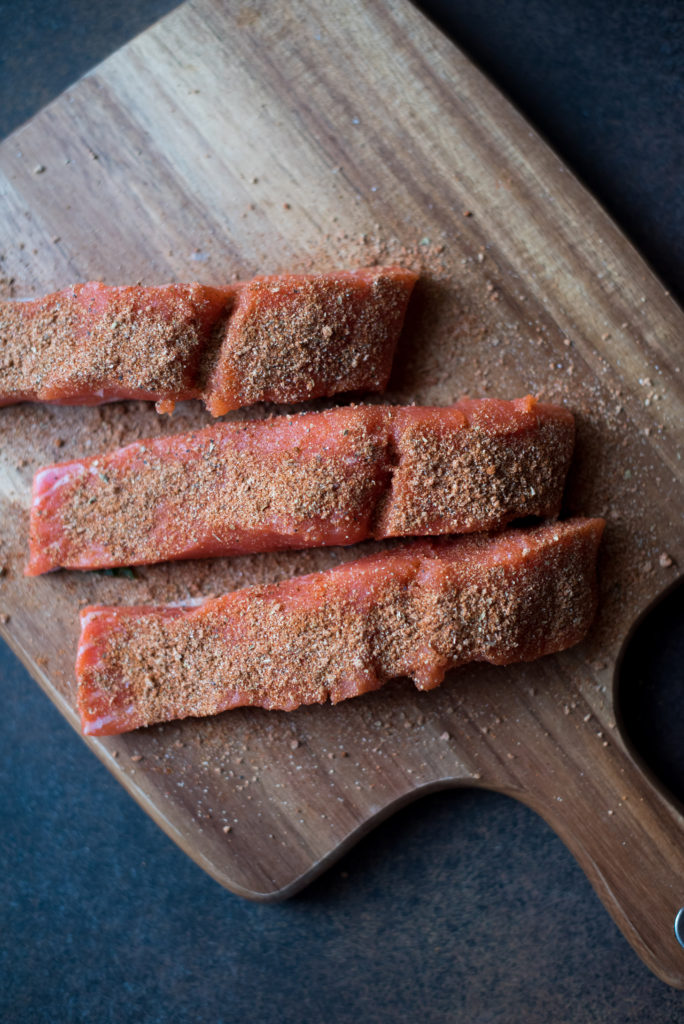 Whole30 Blackened Salmon with Peach Salsa