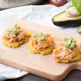 Whole30 Buffalo Chicken Tostones