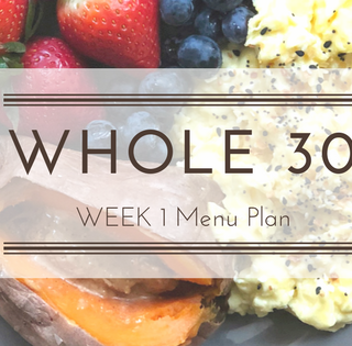 Whole30 Week 1 Menu Plan