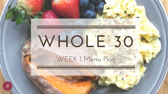 Whole30 Week 1 Menu