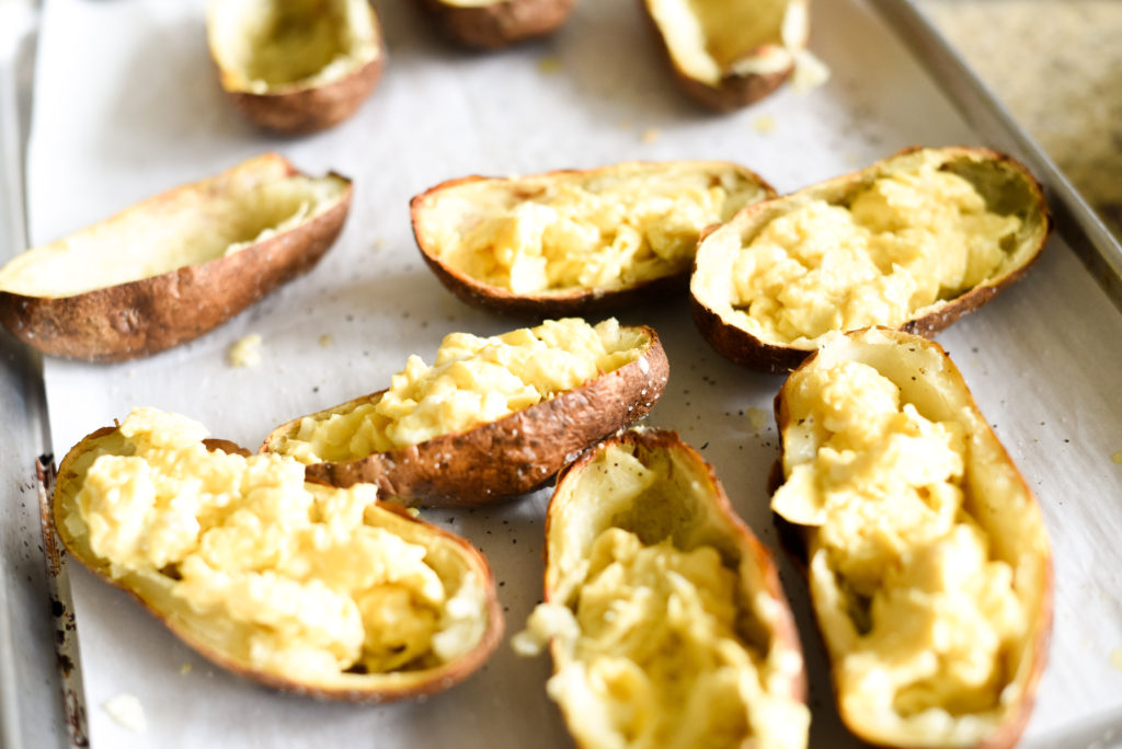 Breakfast Baked Potato Skins - First and Full
