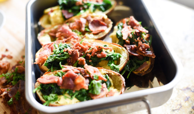Breakfast Baked Potato Skins