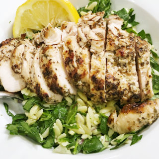 Greek Grilled Chicken and Orzo Salad