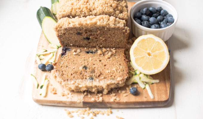Zucchini Bread with Oatmeal Streusel