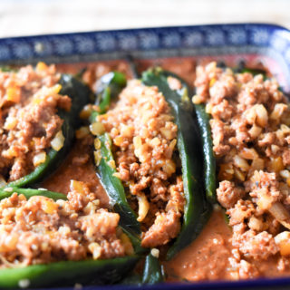 Enchilada Stuffed Poblano Peppers (Whole30)