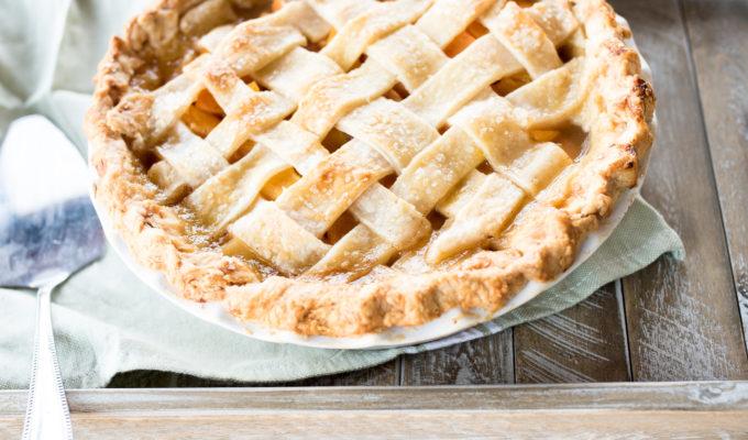 Homemade Peach Pie + A Virtual Potluck